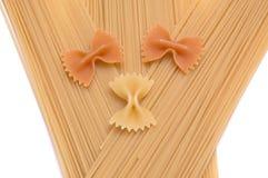 4 как спагетти макаронных изделия предпосылки стоковая фотография
