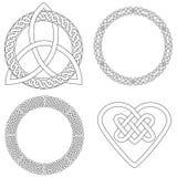 4 кельтских конструкции Стоковая Фотография RF