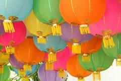 4 китайских фонарика Стоковое Фото