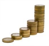 4 колонки монеток Стоковое Изображение RF