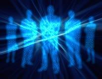 4 люд разряда двоичного числа Стоковое Изображение