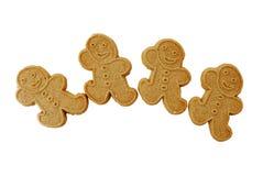 4 люд gingerbread белого Стоковые Фотографии RF