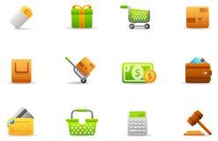 4 магазин икон электронной коммерции установленный philos Стоковые Фото