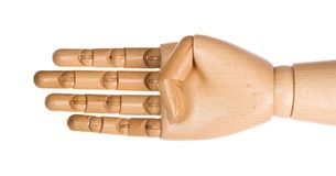 4 перста вручают людское деревянное Стоковые Изображения