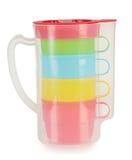 4 пластичных чашки в опарнике Стоковое фото RF