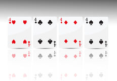 4 покер карточки 4 Стоковое Изображение RF