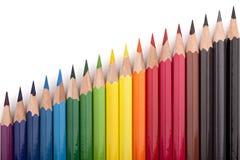 4 покрашенных карандаша Стоковая Фотография RF