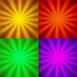 4 предпосылки вектора Стоковые Фотографии RF