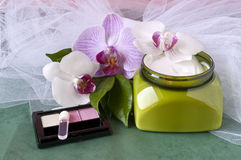 4 продукта чистки красотки Стоковая Фотография RF