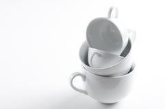 4 различных белых чашки Стоковое Изображение RF