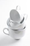 4 различных белых чашки Стоковая Фотография RF