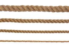 4 различных изолированных веревочки Стоковые Фото