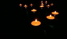 4 свечки плавать Стоковое Изображение RF