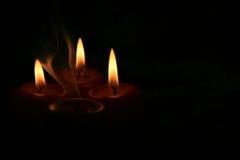 4 свечки Стоковое Изображение RF