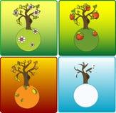 4 сезона иллюстрация вектора