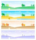 4 сезона иллюстрация штока