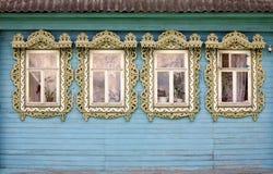 4 сельских окна Стоковые Фото