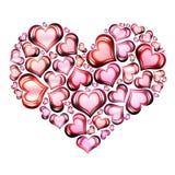 4 сердца сердца Стоковая Фотография RF