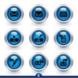4 серии почты иконы Стоковые Изображения RF