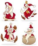 4 смешных santas бесплатная иллюстрация