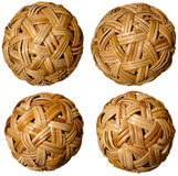 4 сплетенных Bamboo шарика Стоковые Изображения