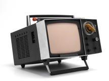 4 старый tv Стоковые Фотографии RF