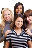 4 сь совместно женщины стоковые фотографии rf