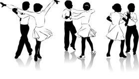 4 танцора молодого Стоковое Изображение