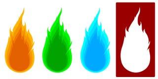 4 типа вектор пожара Стоковое Фото
