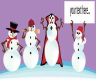 4 типа снеговика Стоковые Фотографии RF