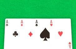 4 туза покера Стоковое Изображение RF