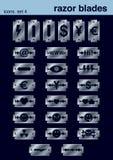 4 установленной иконы Стоковая Фотография