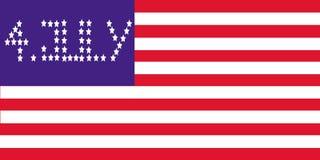 4 флаг июль Стоковые Фото