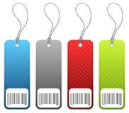 4 цвета оценивают бирки покупкы Стоковые Фотографии RF