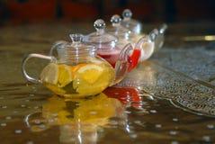 4 чайника чая Стоковая Фотография RF