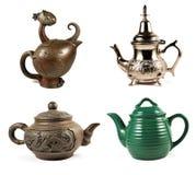 4 чайника Стоковая Фотография
