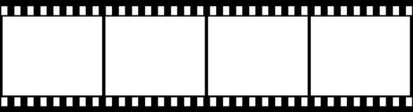 4 черных плоских изображения Стоковая Фотография RF
