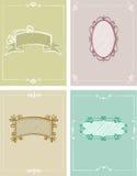 4 шаблона поздравительных открыток Стоковые Изображения RF