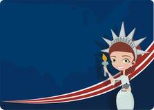 4-ые празднуя женщины в июле иллюстрация штока