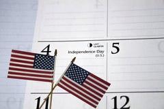 4-ый календар июль Стоковые Изображения