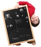 4-ый мальчик закрепляя счастливый путь в июле Стоковое Изображение