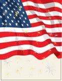 4-ый флаг 2-ое июля Стоковая Фотография RF