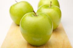 4 яблока Стоковые Фото