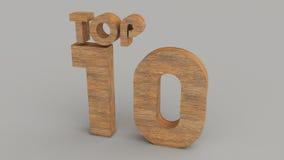 4 10顶视图木头 免版税图库摄影