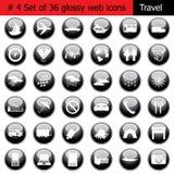 4个图标集合旅行 图库摄影