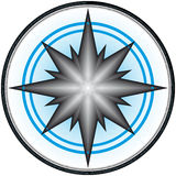конструкция 4 компасов Стоковые Изображения