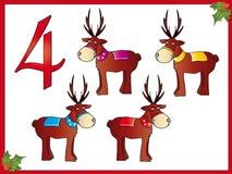 4 12圣诞节驯鹿 免版税库存照片