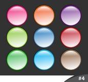 4个按钮分开发光的网站 免版税库存照片