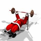 4健身圣诞老人 免版税库存照片
