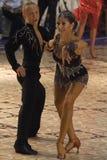 4 14 15场比赛开放舞蹈的拉丁 免版税库存照片